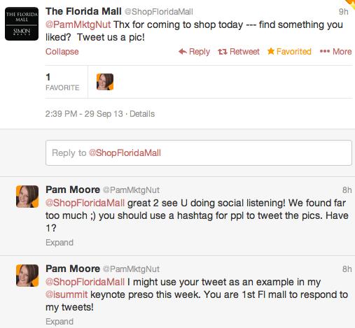 gerenciamento de mídias sociais - florida mall